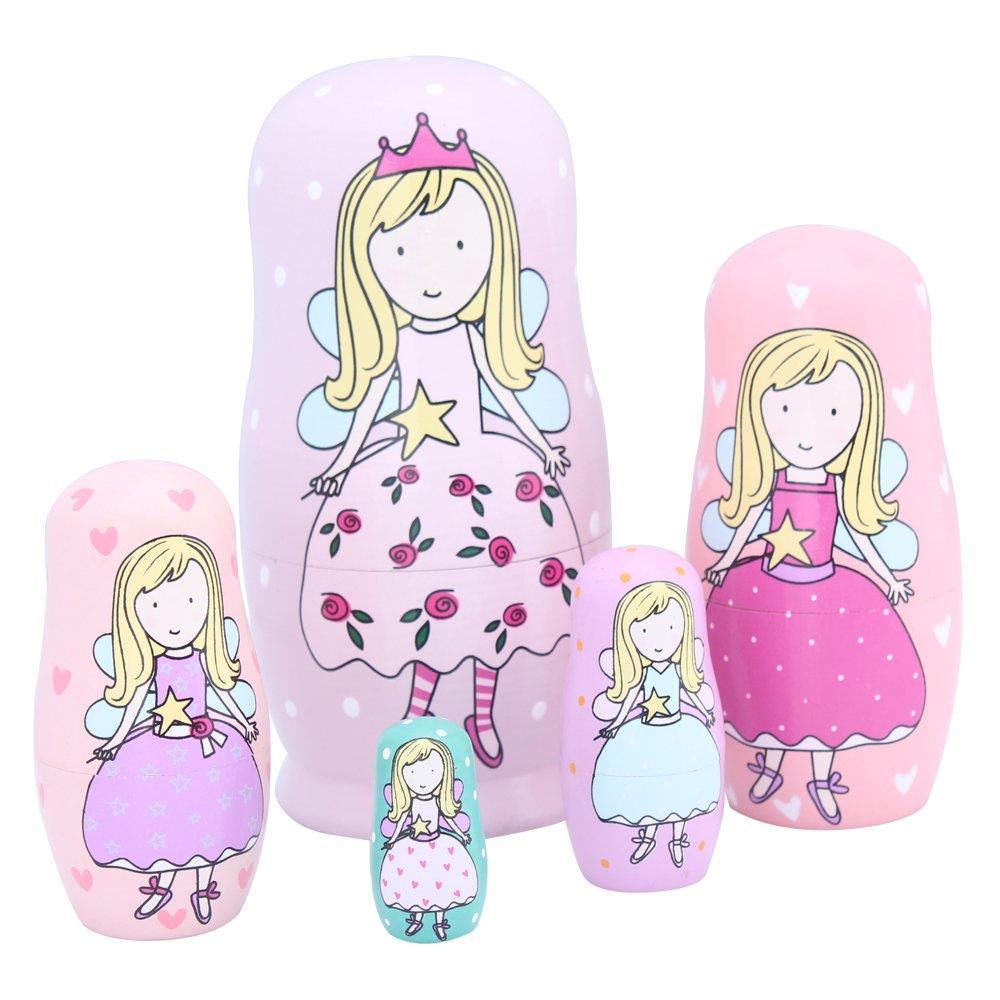 林之语 天使套娃 木制益智玩具俄罗斯儿童玩具