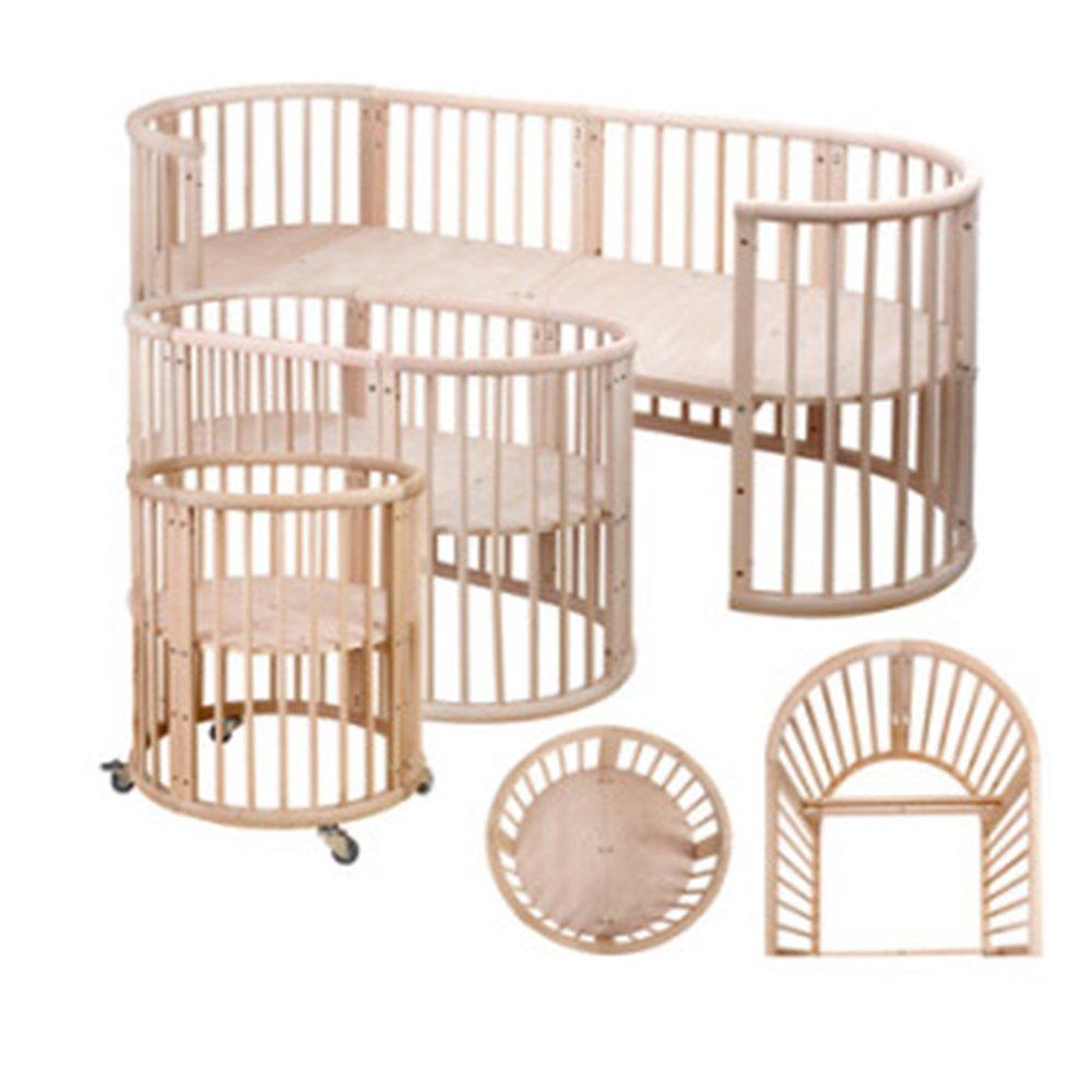 欧式婴儿床实木儿童床游戏床出口bb床圆床mc81stokke