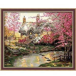 彩风景画简单_客厅风景情侣手绘装饰画壁画