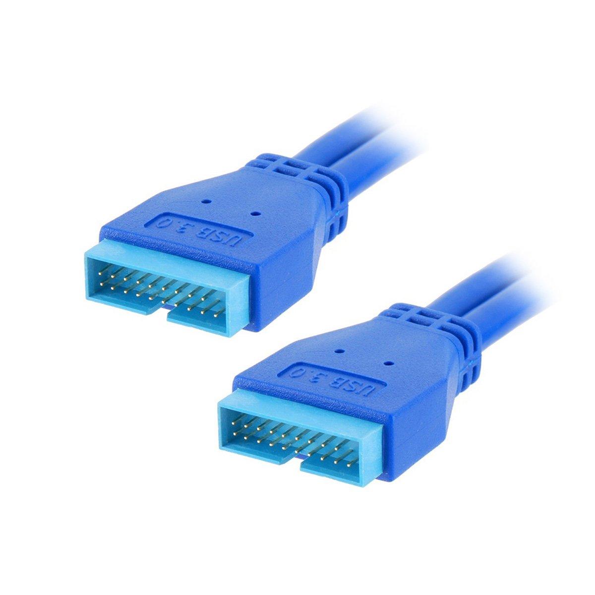 0主板20pin公头对20针公头 延长数据线 对接线 50cm