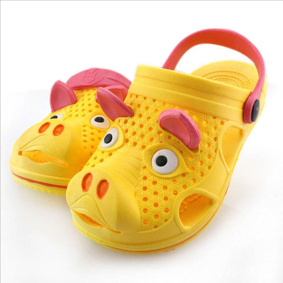新款夏季儿童凉鞋可爱卡通宝宝沙滩拖鞋洞洞鞋