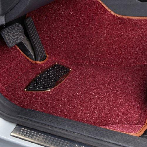 酒红色沙�z--9f_超纤丝原厂大包围脚垫dt-019 专车专用脚垫 适用车型 宝马 酒红色