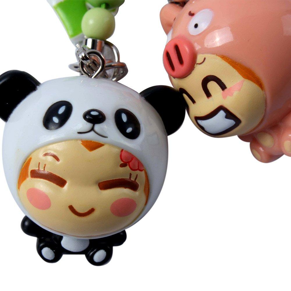 悠嘻猴pvc手机链超级变变变-猪 熊猫/可爱卡通情侣礼物