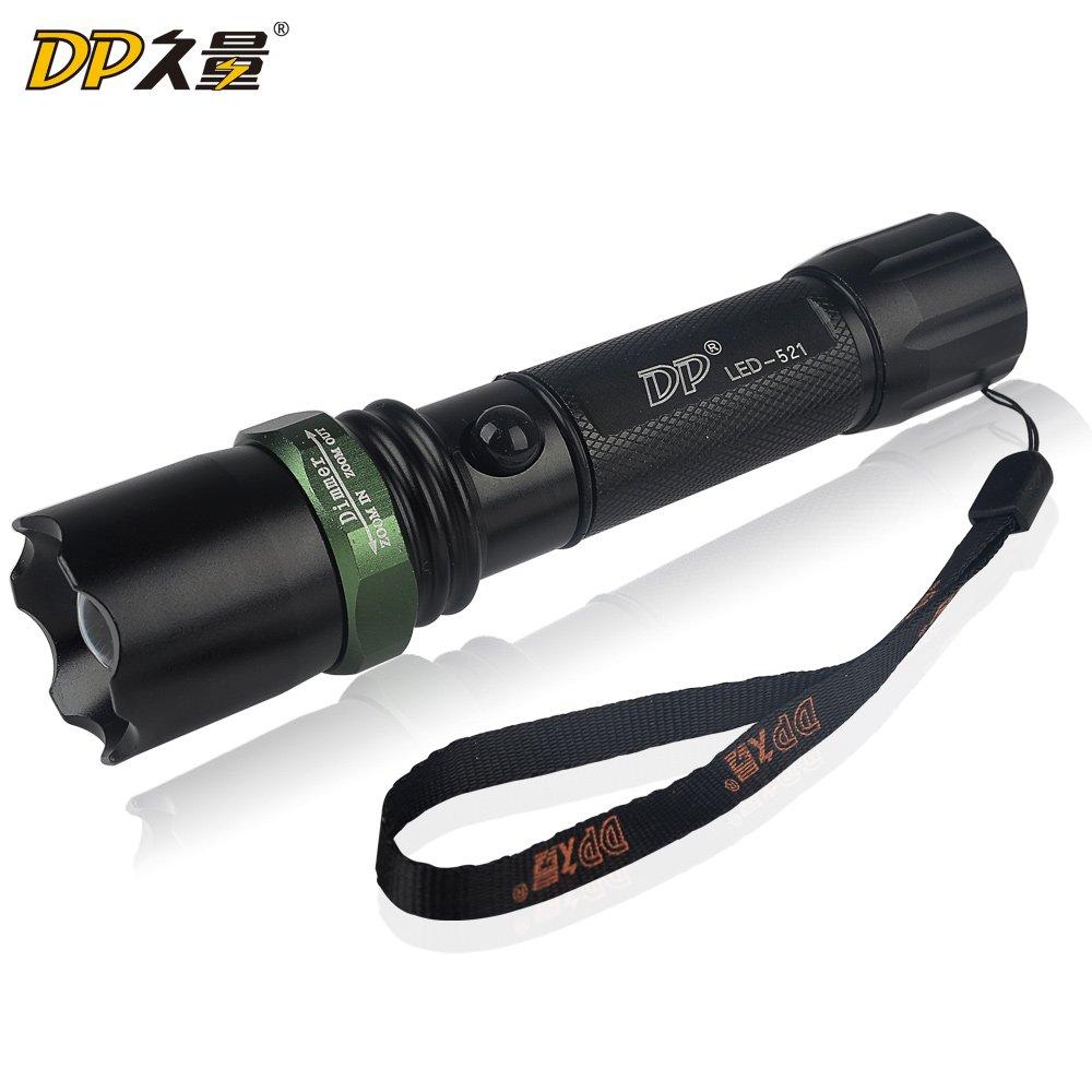 久量强光调焦手电筒 强光夜骑远射 充电手电筒 家用户外照明521