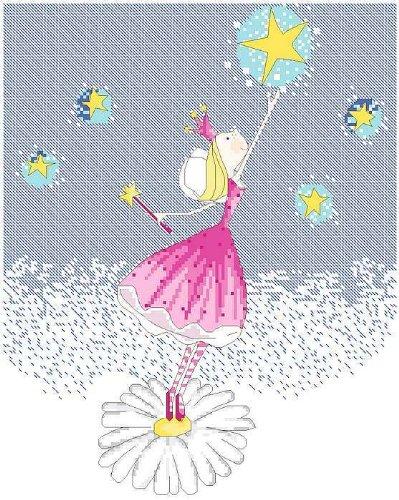 万众家园 十字绣 客厅卧室人物画 可爱卡通 小公主之摘星 9ct 朵拉线