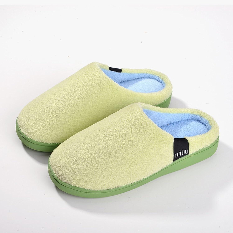 2015新款棉拖 韩式冬季棉拖鞋男女纯色包跟家居室内加厚保暖拖鞋情侣
