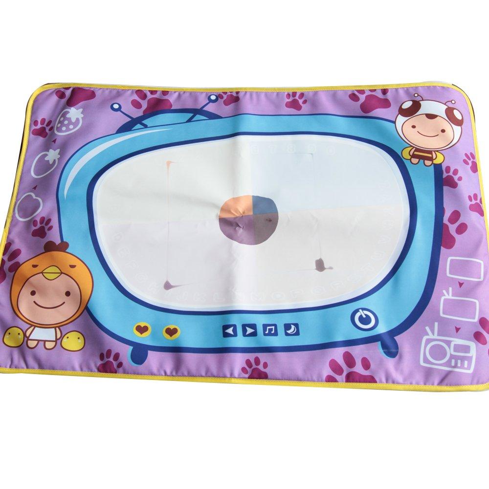 兒童神奇水畫布 水畫布畫畫工具 隨意涂鴉有畫筆 環保安全 紫色電視機