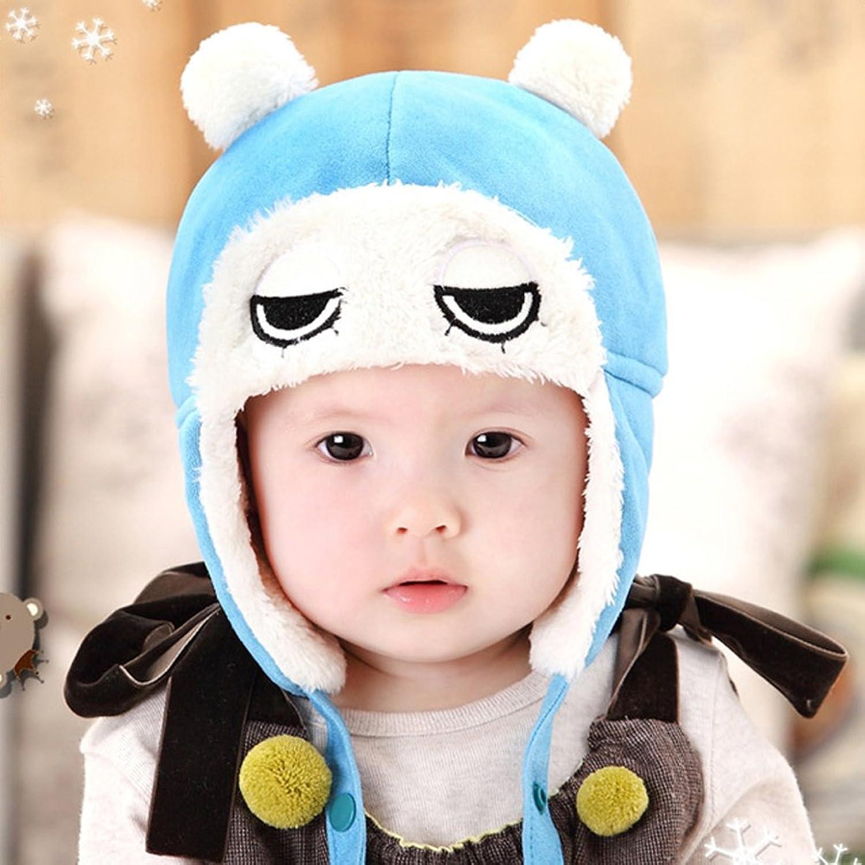 公主妈妈冬季婴儿帽宝宝套头帽子大眼睛雷锋帽护耳帽