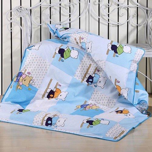 迎鹤 脱套 可拆卸 儿童被子幼儿园被褥 纯棉 全棉被套配双胆被芯 童年