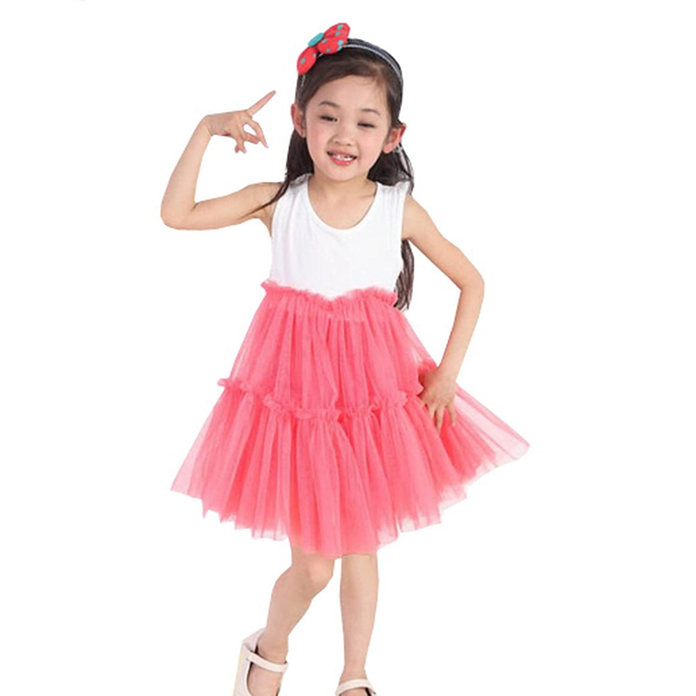 waboats 夏装新款童装女童连衣裙 短袖儿童裙子 童装纱裙 中大童糖果图片