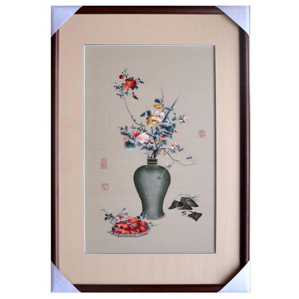 娇古 中国古画 苏绣刺绣 中式装修客厅挂画 餐厅装饰画