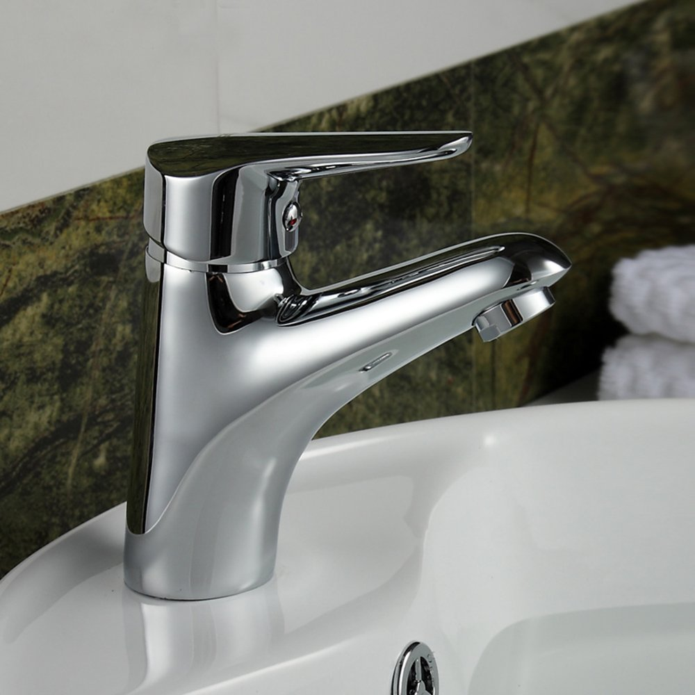 洗脸池冷热水龙头拆卸图解