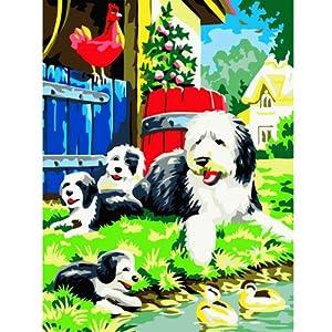 装饰画 丙烯作画永不褪色 高品质生活数字油画 一步做画家 20*20 动物