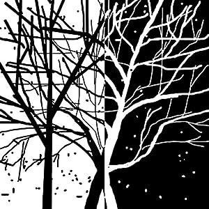 秋田映画 黑白抽象发财树现代装饰画客厅卧室办公室简约壁画 25mm厚板