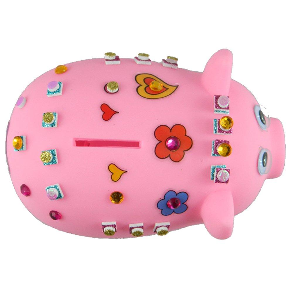 臭皮匠儿童手工diy制作创意粘贴存储钱罐搪胶可爱公仔玩具猪新年礼物