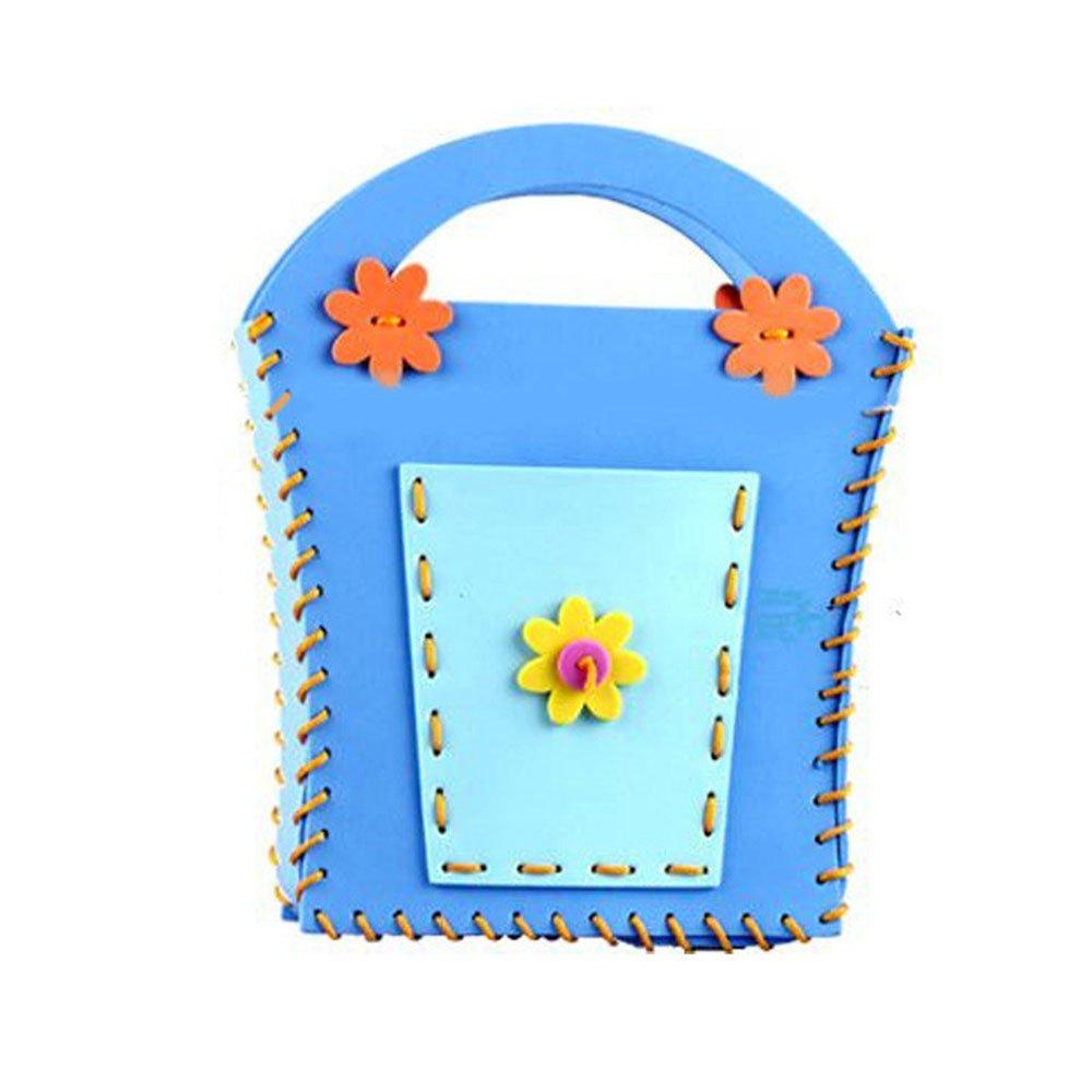海鲸eva手工包diy儿童制作包包挎包幼儿园手工缝制立体贴画益智手工卡