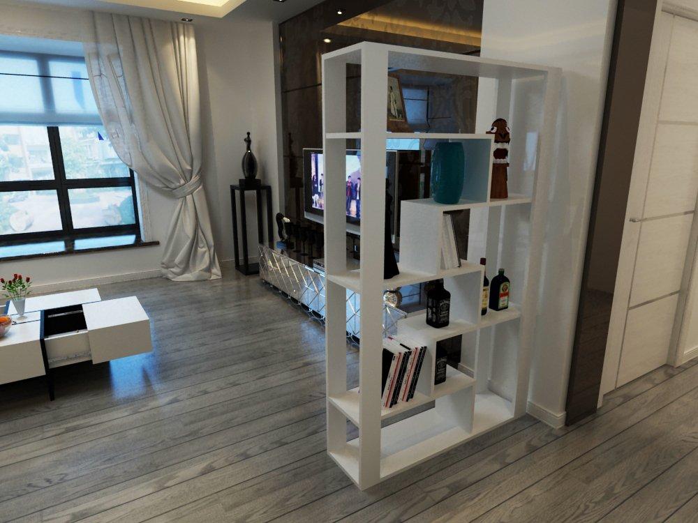 100平方欧式客厅带酒柜隔断装修效果图