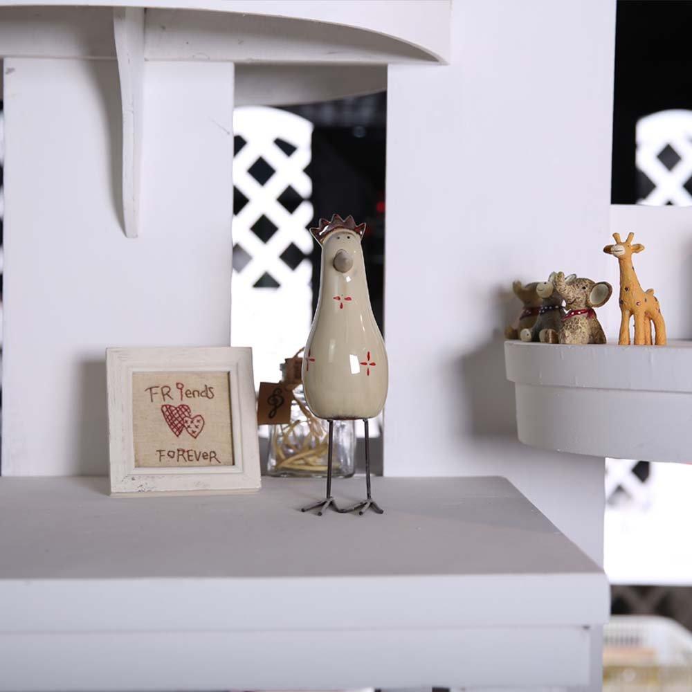 家装饰品摆件 创意美式乡村风格可爱卧室陶瓷工艺品
