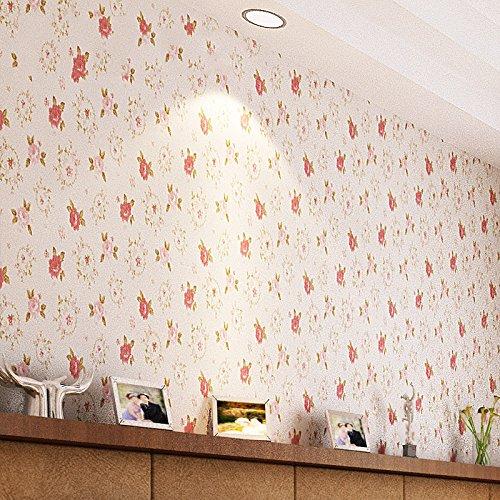 绿泇 无缝墙布 温馨田园 电视背景墙客厅卧室餐厅壁布