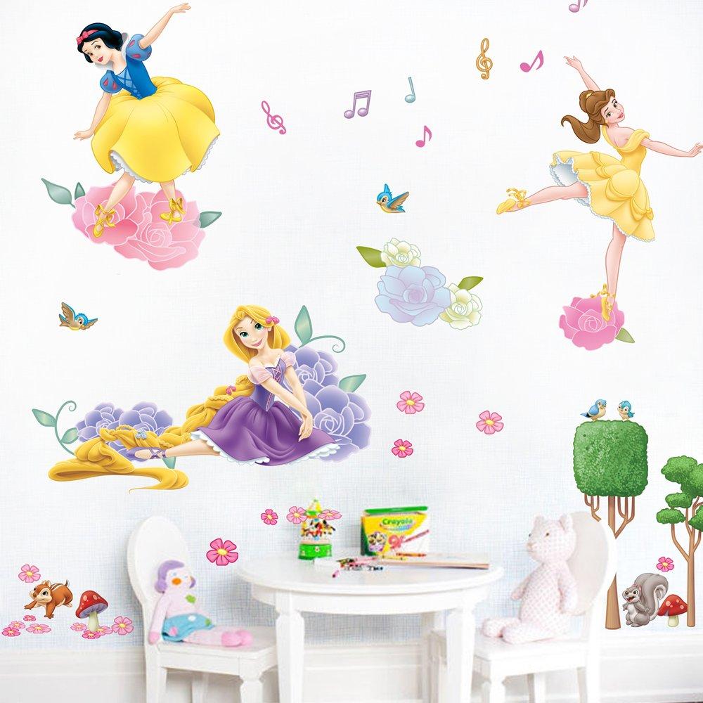 迪士尼公主墙贴纸 儿童房音乐舞蹈训练教室布置装饰贴画 芭蕾公主