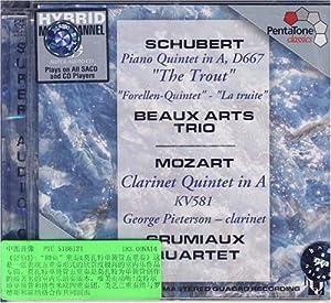 """进口cd:舒伯特:""""鳟鱼""""重奏&莫扎特单簧管五重奏"""