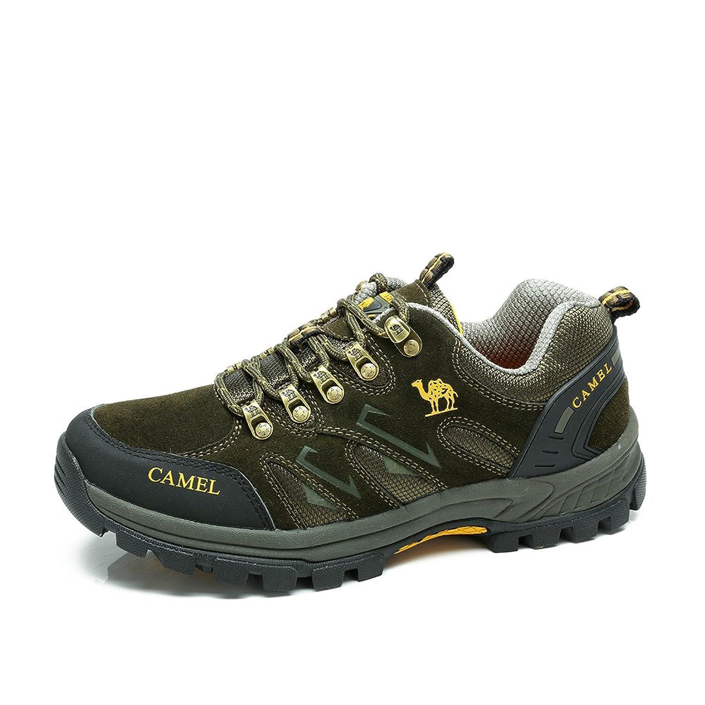 Camel 骆驼 户外登山徒步鞋 2014年男士新款低帮牛皮透气户外鞋子A432330135