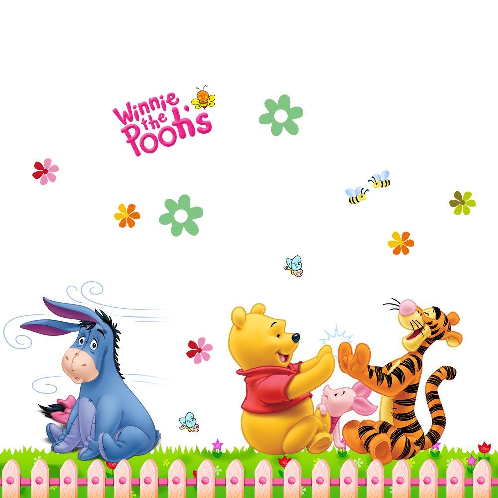 飞彩墙贴纸维尼一家 迪士尼儿童房间装饰卡通贴纸幼儿