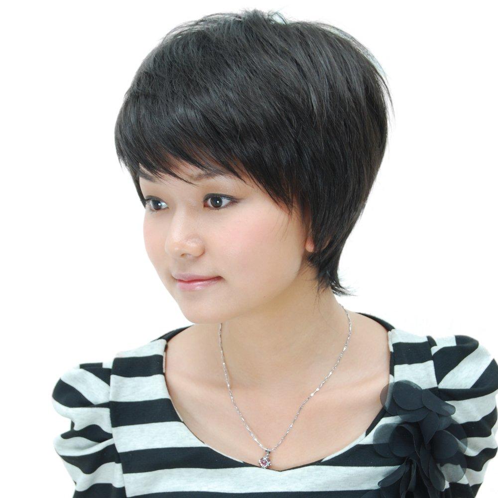 卡瑞丝假发 bobo碎斜刘海 短假发短发 蓬松 层次假发型