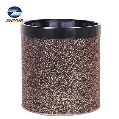 zhiyue志岳不锈钢无盖双内圈垃圾桶