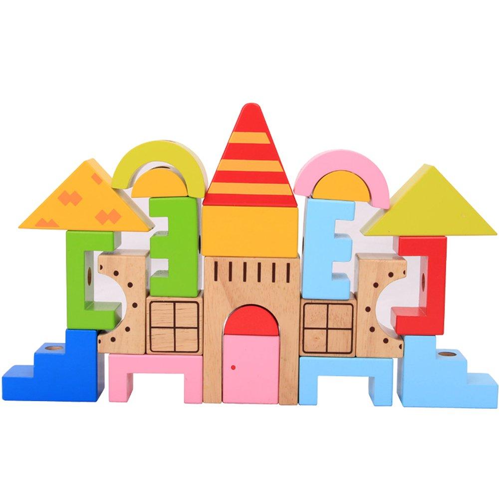 七色花幼教幼儿园儿童益智积木搭建类玩具城堡穿棒积木26020
