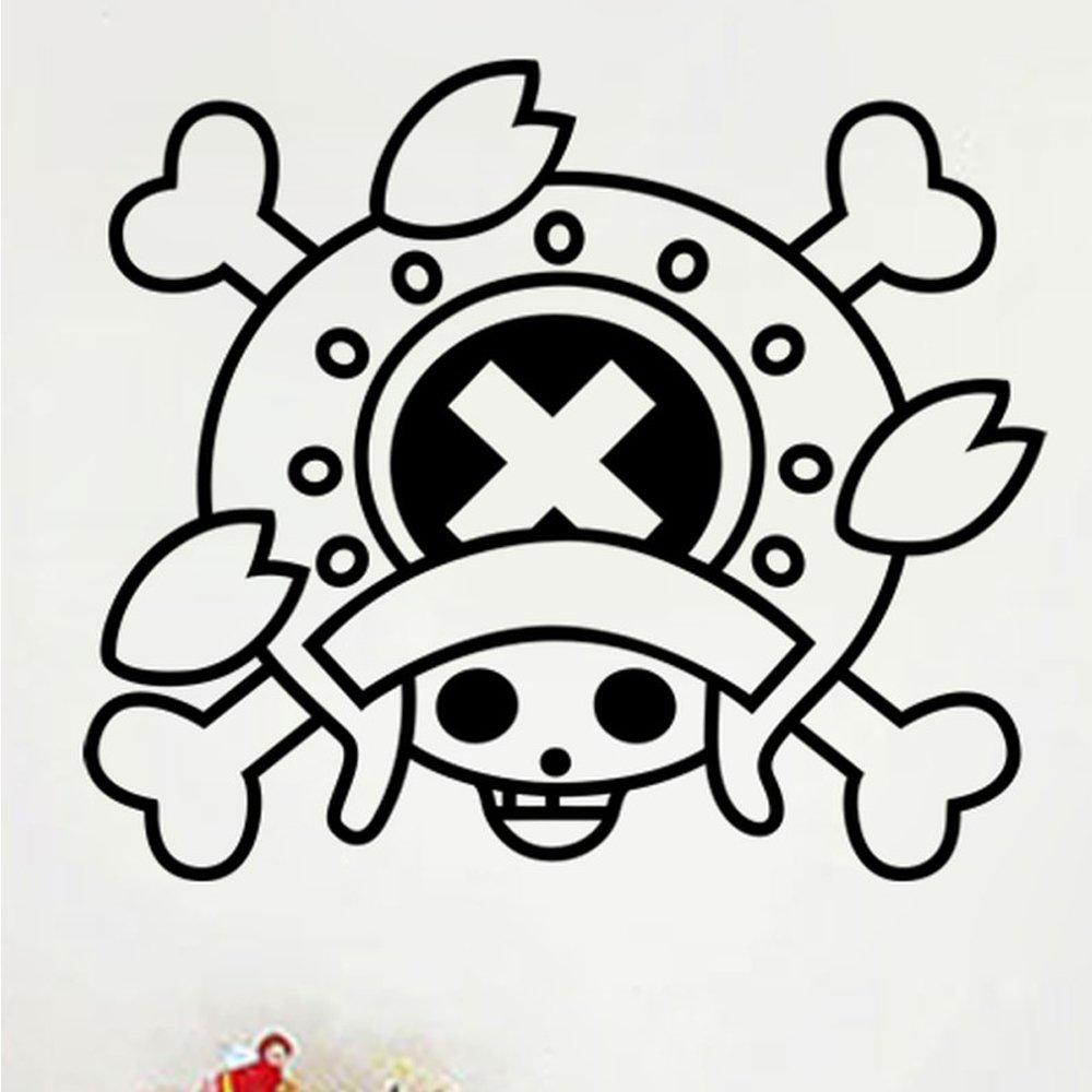 自粘 镂空 海贼王系列动漫画海贼王卡通贴纸 90840 弗兰克海贼旗 乔巴