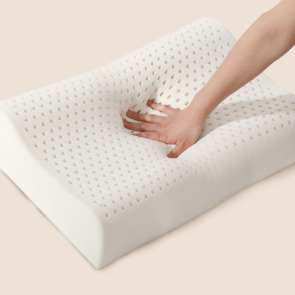 米兰娜 米兰娜家纺 天然泰国进口纯天然乳胶枕头 保健图片