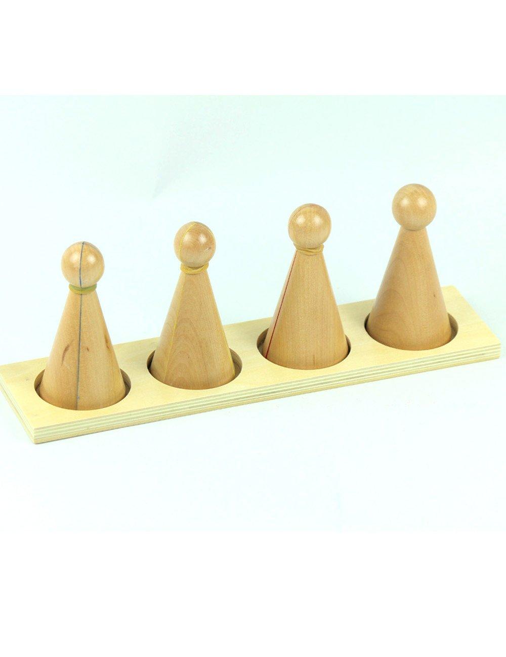 波菲 专业版蒙氏教具分数小人 幼儿园专供蒙台梭利教具