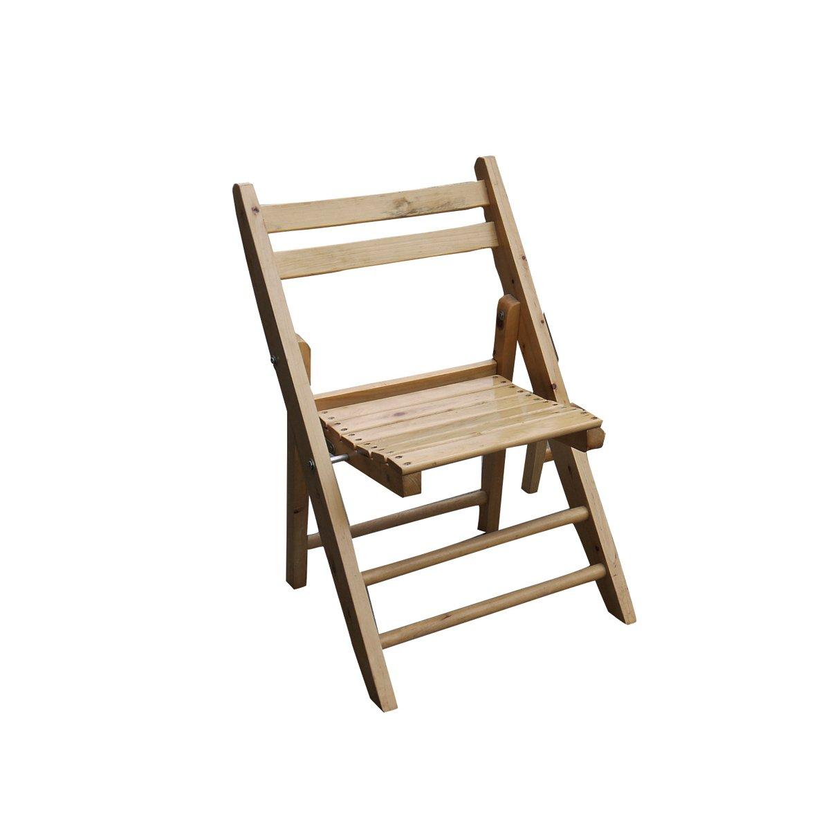 益琳柏木环保折叠椅实木休闲椅便携靠背椅餐椅
