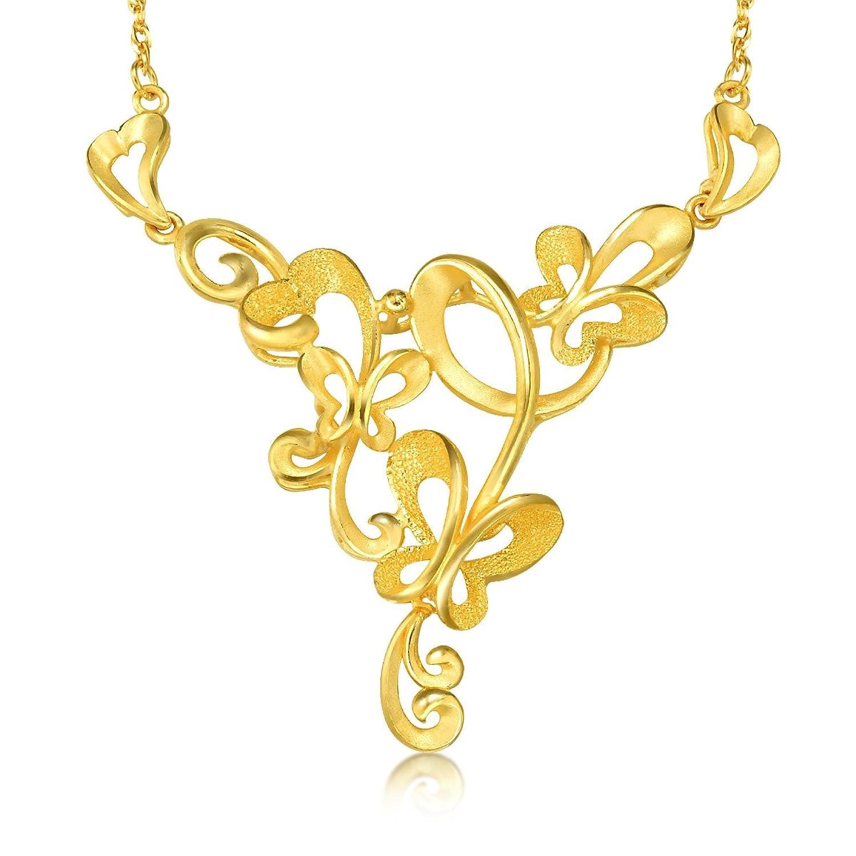 黄金(足金)蝴蝶项链