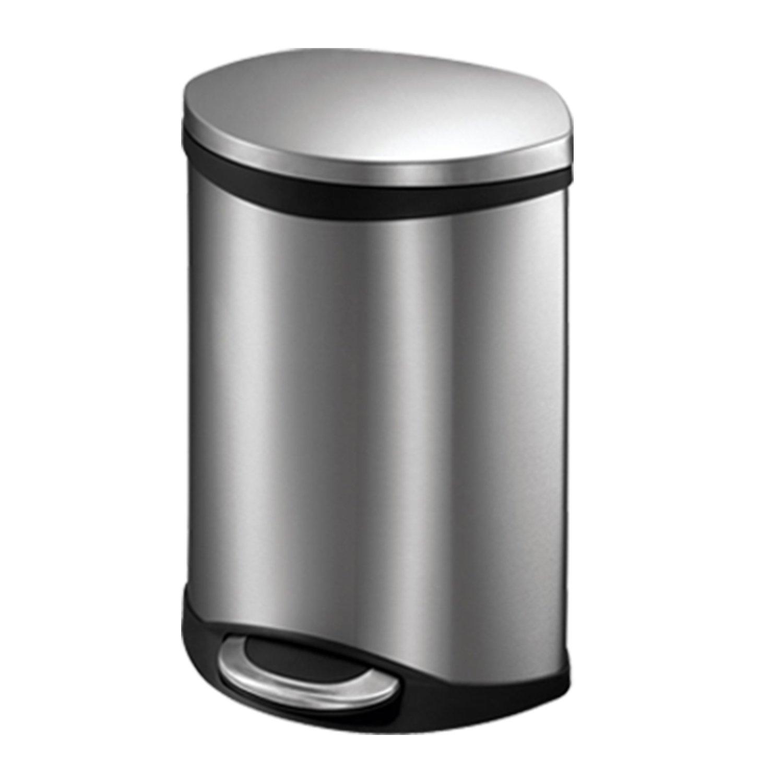 eko静音时尚创意脚踏厨房家用不锈钢垃圾桶收纳桶