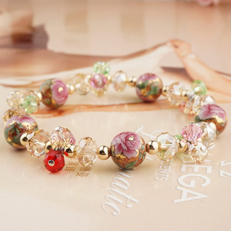 艾米瑟正品 奥地利进口水晶日本手绘珠手链 送女友礼物时尚新品 春魅s