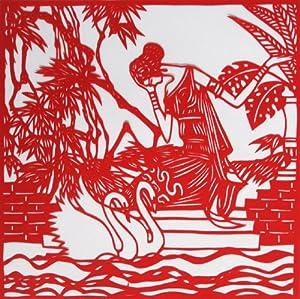 中国剪纸艺术作品-思念-创意家居装饰画