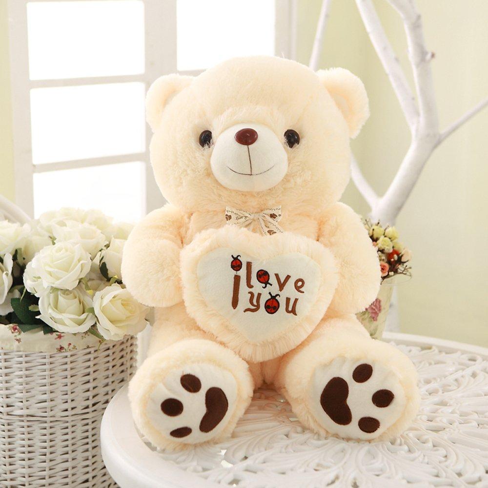 大眼猫 生日礼物超大抱心熊 抱抱熊爱心熊可爱熊毛绒玩具公仔熊熊