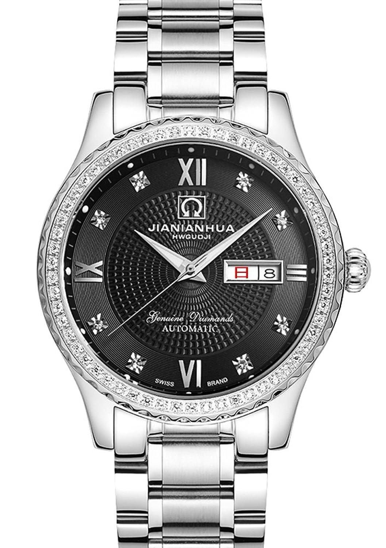 瑞士嘉年华手表 闪耀系列双日历高端镶钻全自动机械表