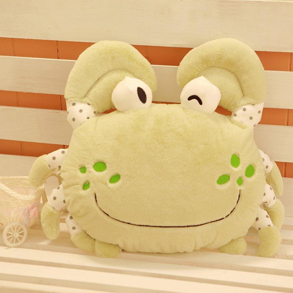 大眼猫 创意螃蟹可爱飞蟹靠垫抱枕 毛绒玩具抱枕公仔