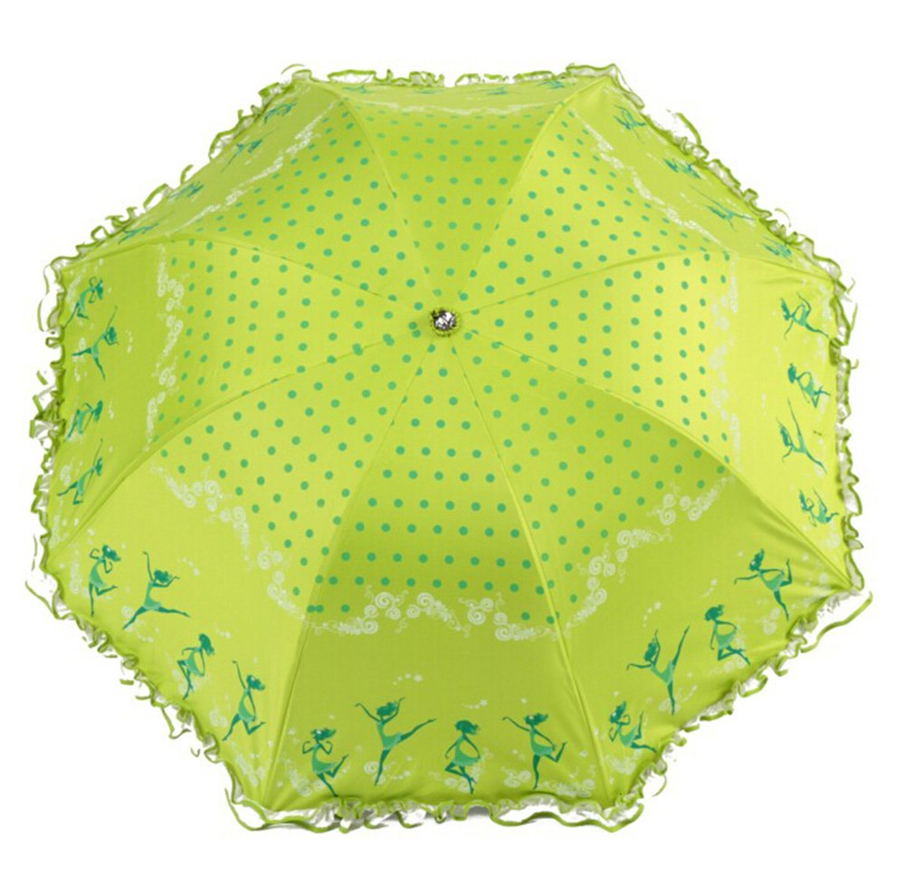折叠小清新创意可爱花边韩国公主伞