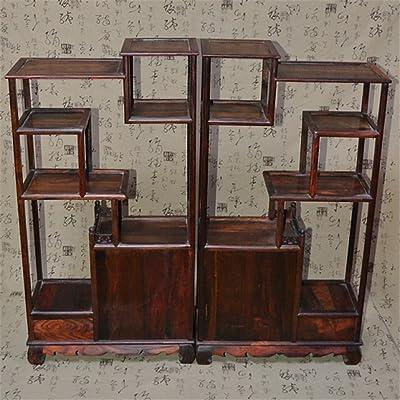 龙德轩红酸枝木雕博古架摆件实木简约现代中式客厅红木多宝格家具图片