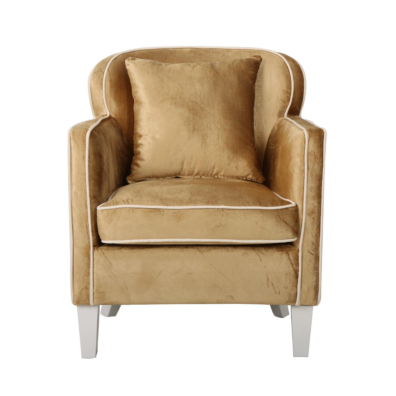 美式布艺单人位沙发