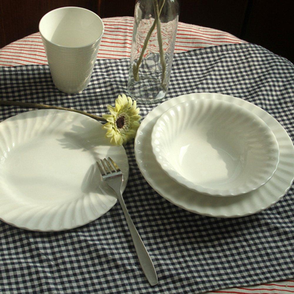 欧式外贸出口 纯白西餐复古花纹浮雕骨瓷餐具