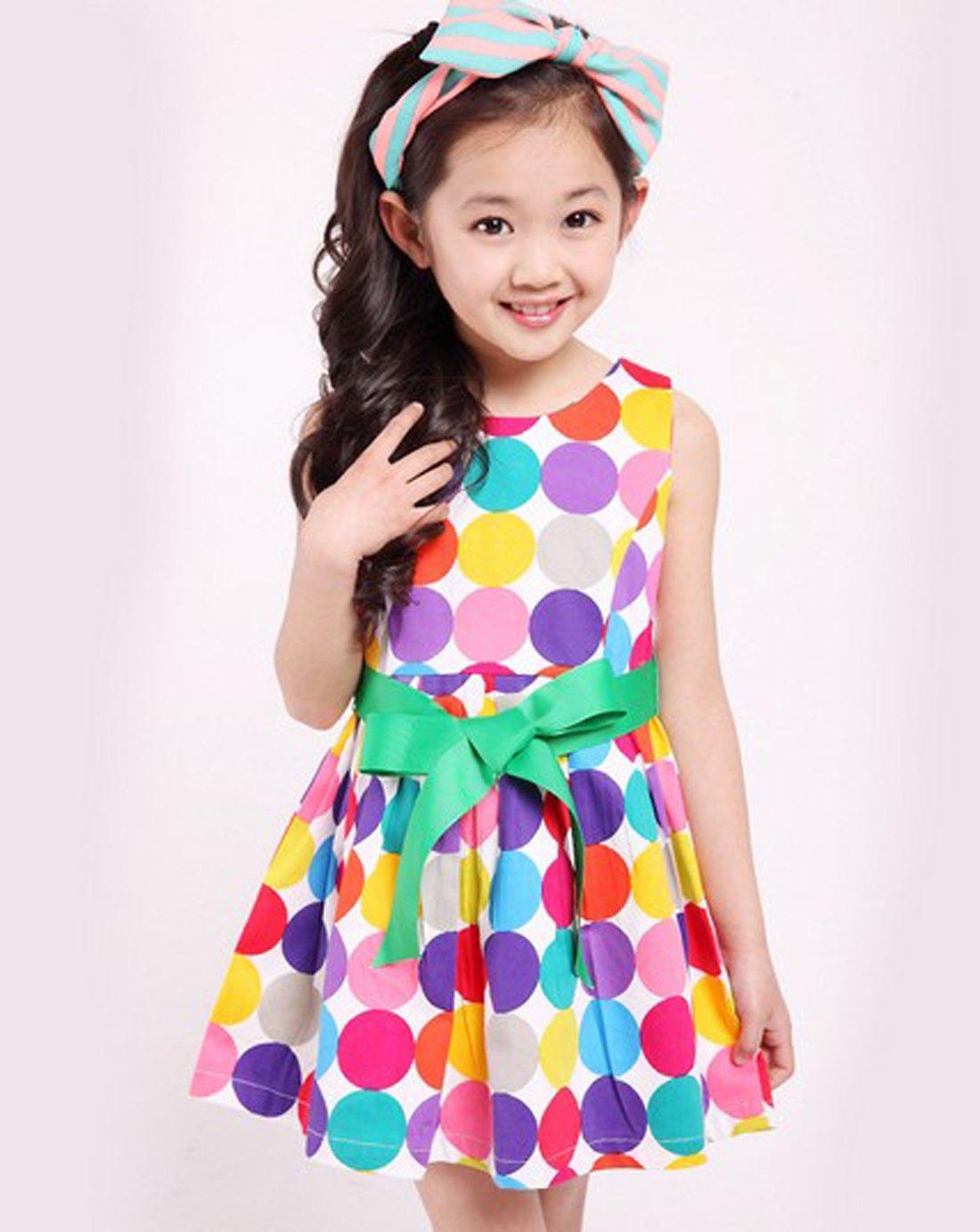 女童装 夏季新款韩版连衣裙短袖套裙