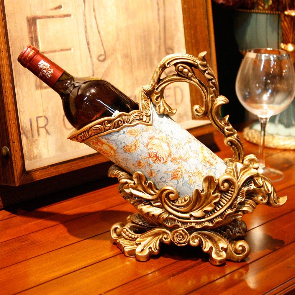 欧式复古雕花树脂红酒架