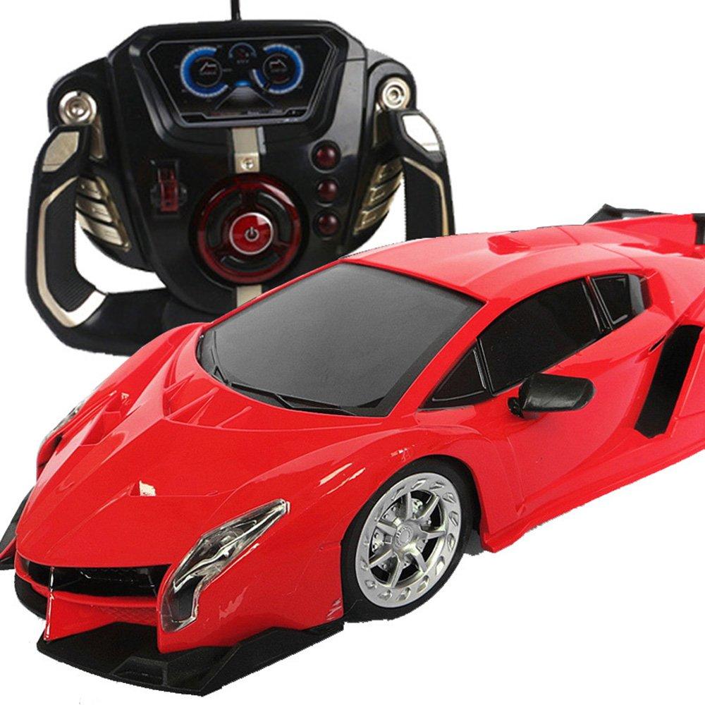 活石 兰博基尼耐摔王遥控车 充电漂移遥控汽车 儿童玩具车玩具跑车