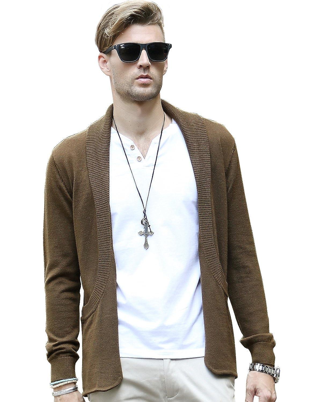 nc 纳川 薄款翻领毛衣 修身外套 开衫 男 针织 长袖 男士羊毛衫 秋季