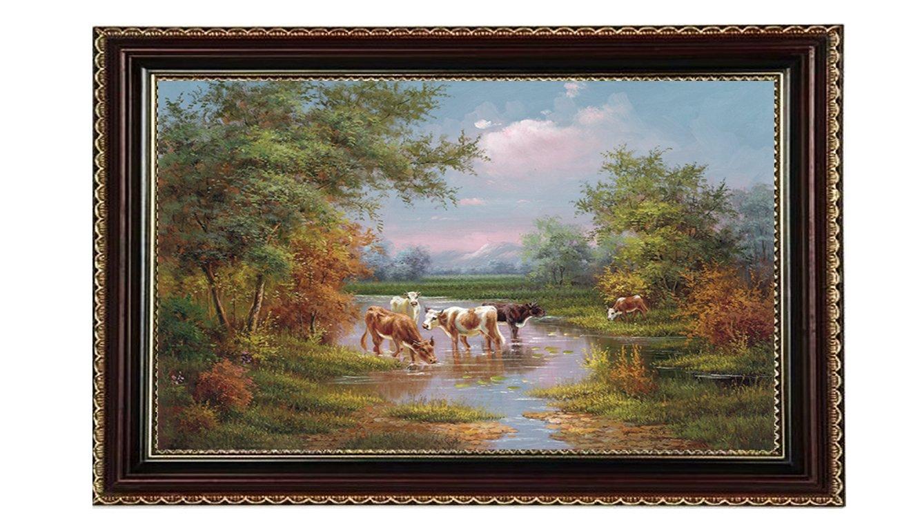 风景油画大尺寸手绘现代装饰画